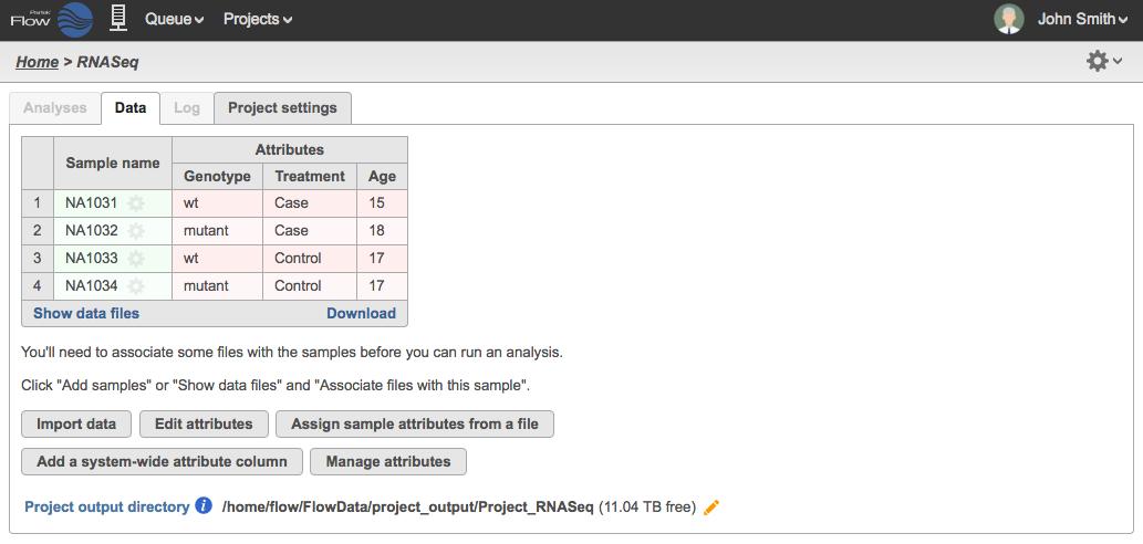 Sample Table from a Text File Flow Documentation Partek – Sample Case File